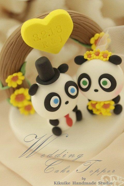 Panda Wedding Cake Topper---k961   wedding 3   Pinterest   Panda ...