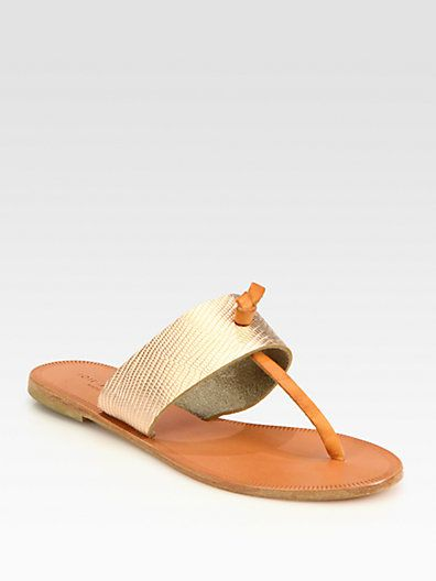 4927b1e3890 Joie - Nice Metallic Leather Thong Sandals Fancy Shoes
