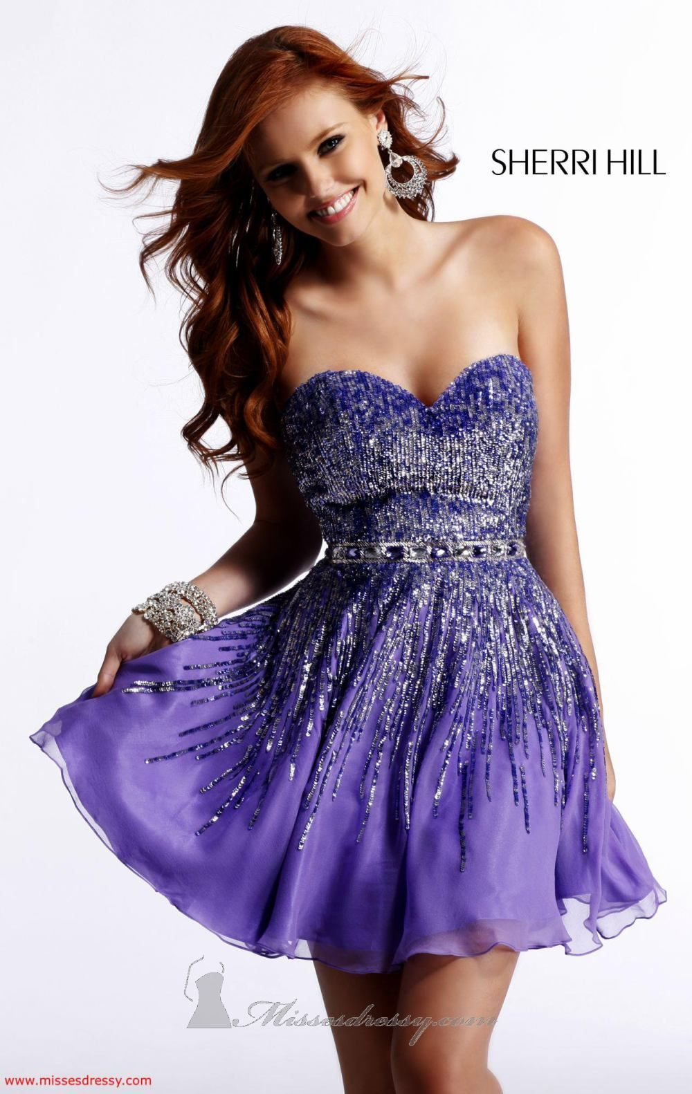 Pleated cocktail dress by sherri hill for sale at amazing