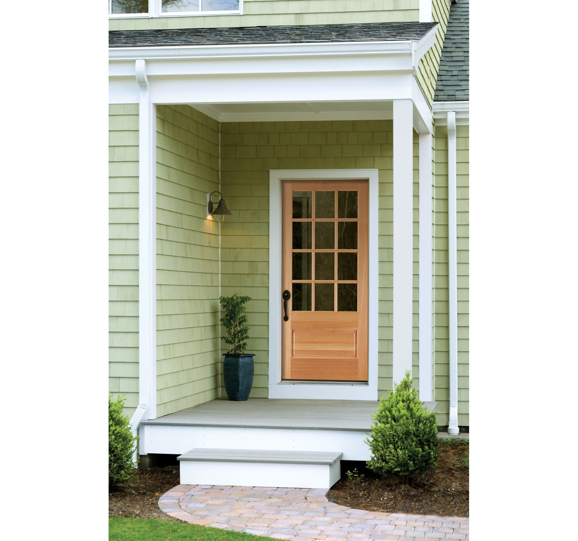 Exterior Door And Covered Porch