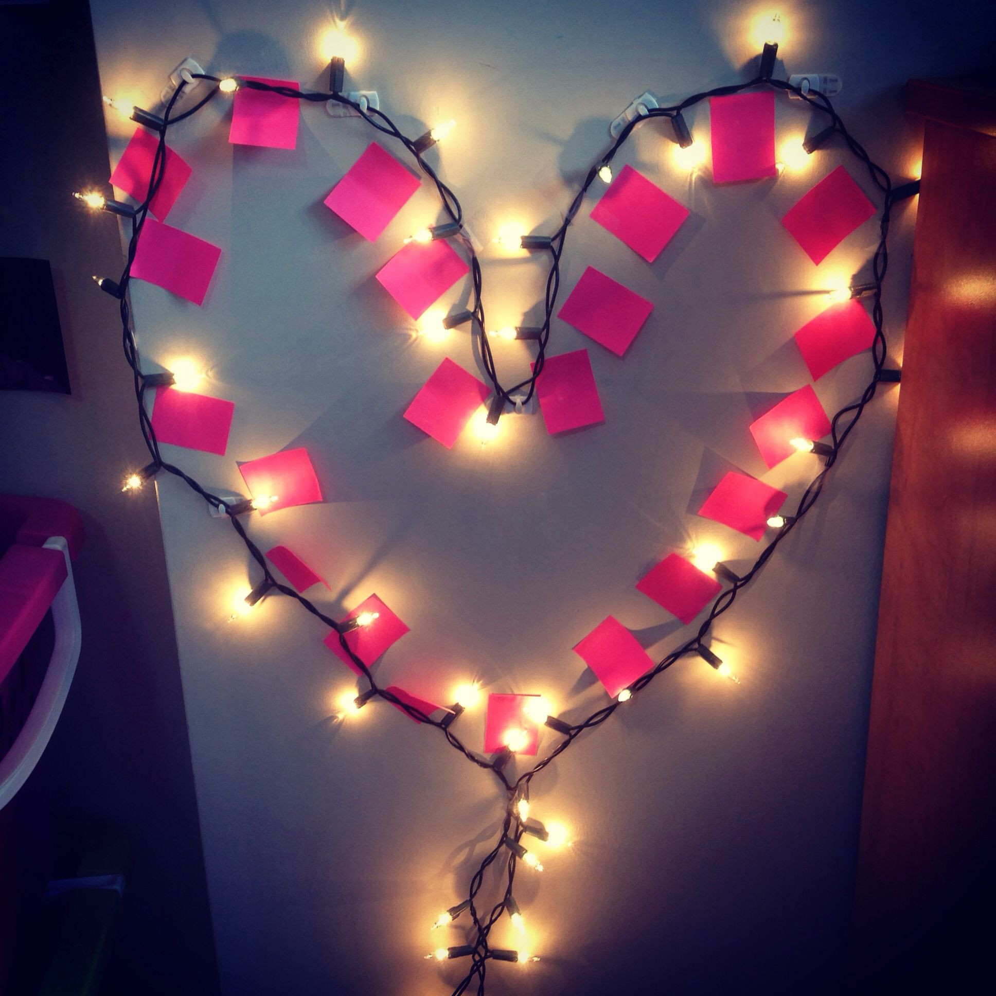 Heart Shaped String Lights For Valentines Day Hang Them With