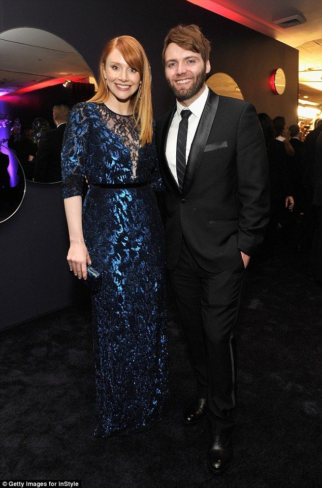 Enjoyinig the moment: Bryce is pictured with her husband Seth Gabel at the InStyle and War...