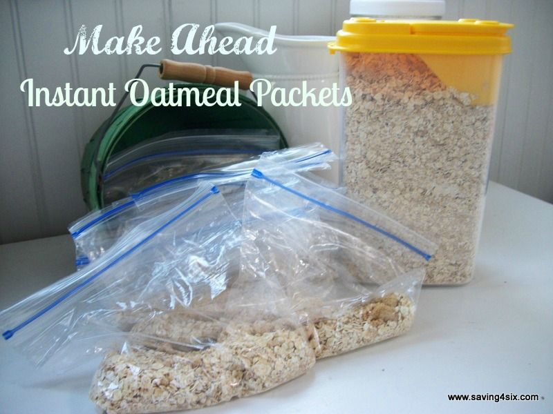 Make Ahead Instant Oatmeal Mix