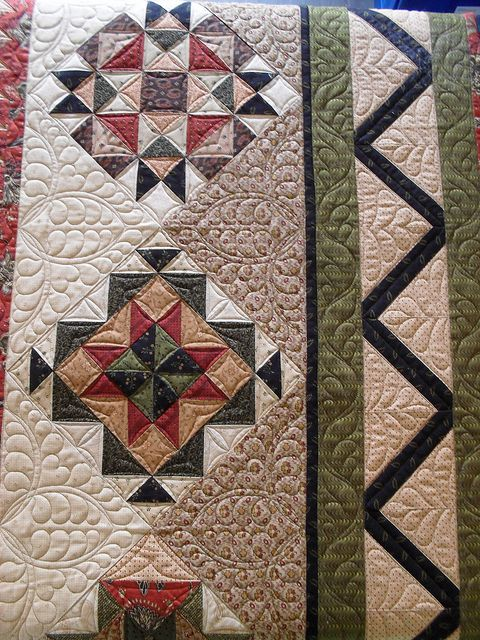 Great border! Sby Jessica's Quilting Studio, via Flickr