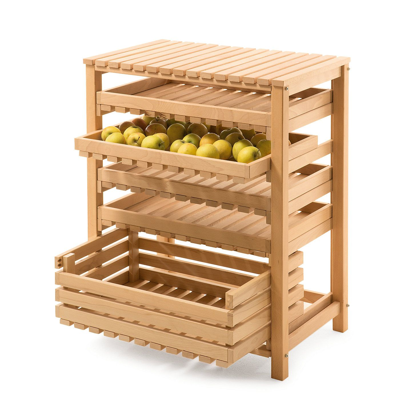 Obst und Gemüsehorde Buchenholz Buchenholz, Holz und