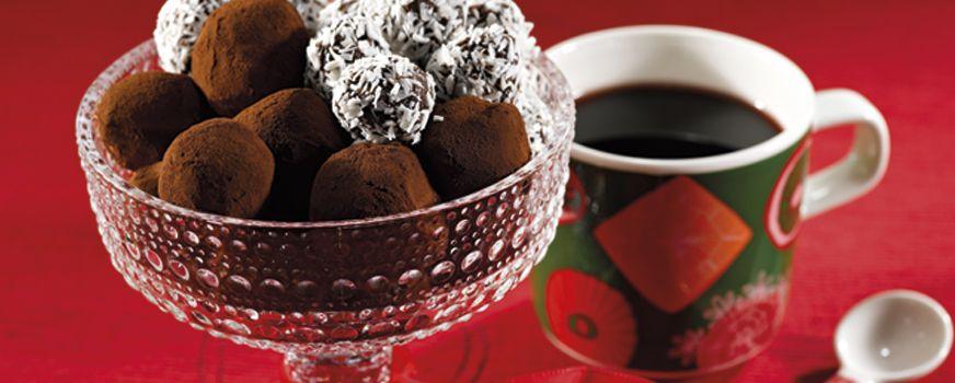Suklaiset Blossa-konvehdit - Jälkiruoat - Viinimaa