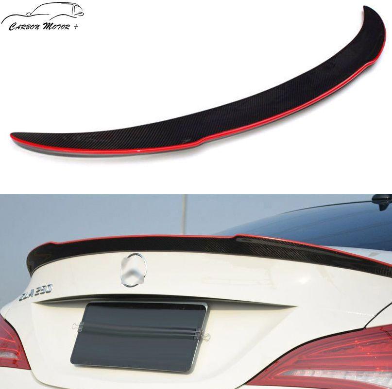Benz W117//AMG CLA45 CLA250 Carbon Fiber Trunk Lip FD Style Rear Spoiler for 13