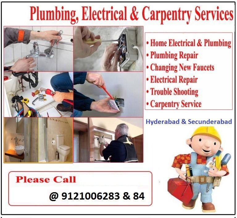 Electrician Plumbing Carpenter Services At Your Doorstep Hyderabad Carpentry Services Plumbing Repair Plumbing