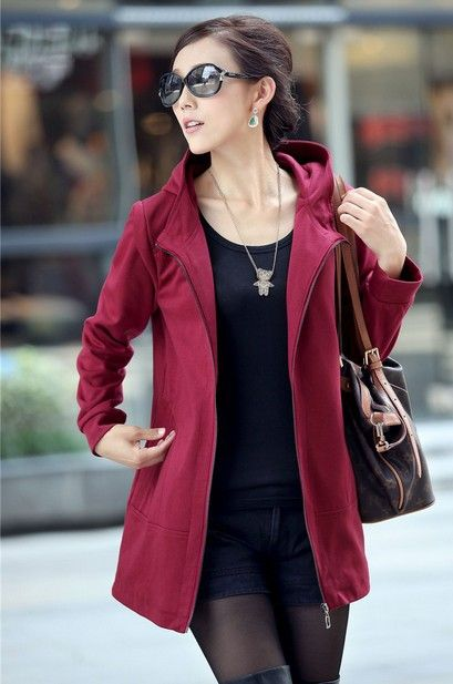 free shipping Ouqing brand long trench coats for women girls 2013 new cheaper beauty sexy slim style hot sale plus size $43.70