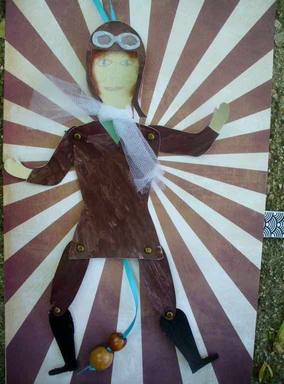 Amerlia Earhart Jumping Jack by smallworldland on Etsy