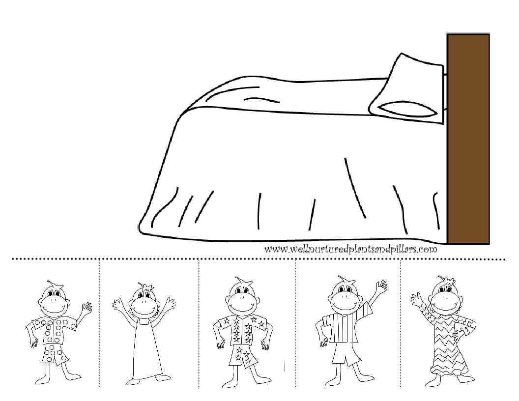 Freebie Friday- Five Little Monkeys Jumping on the Bed | Speech ...