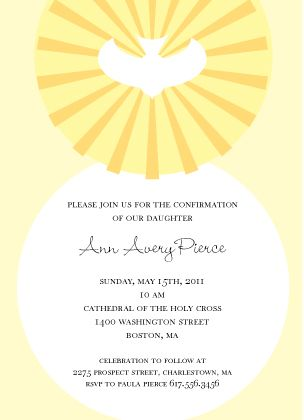 confirmation invitation confirmation dove confirmation invites