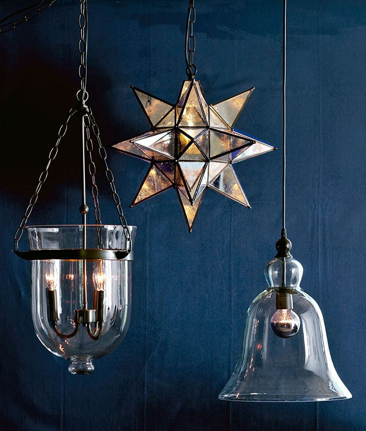 Pottery Barn Lights Hanging Lights: Hello, Beautiful Blue Wall.