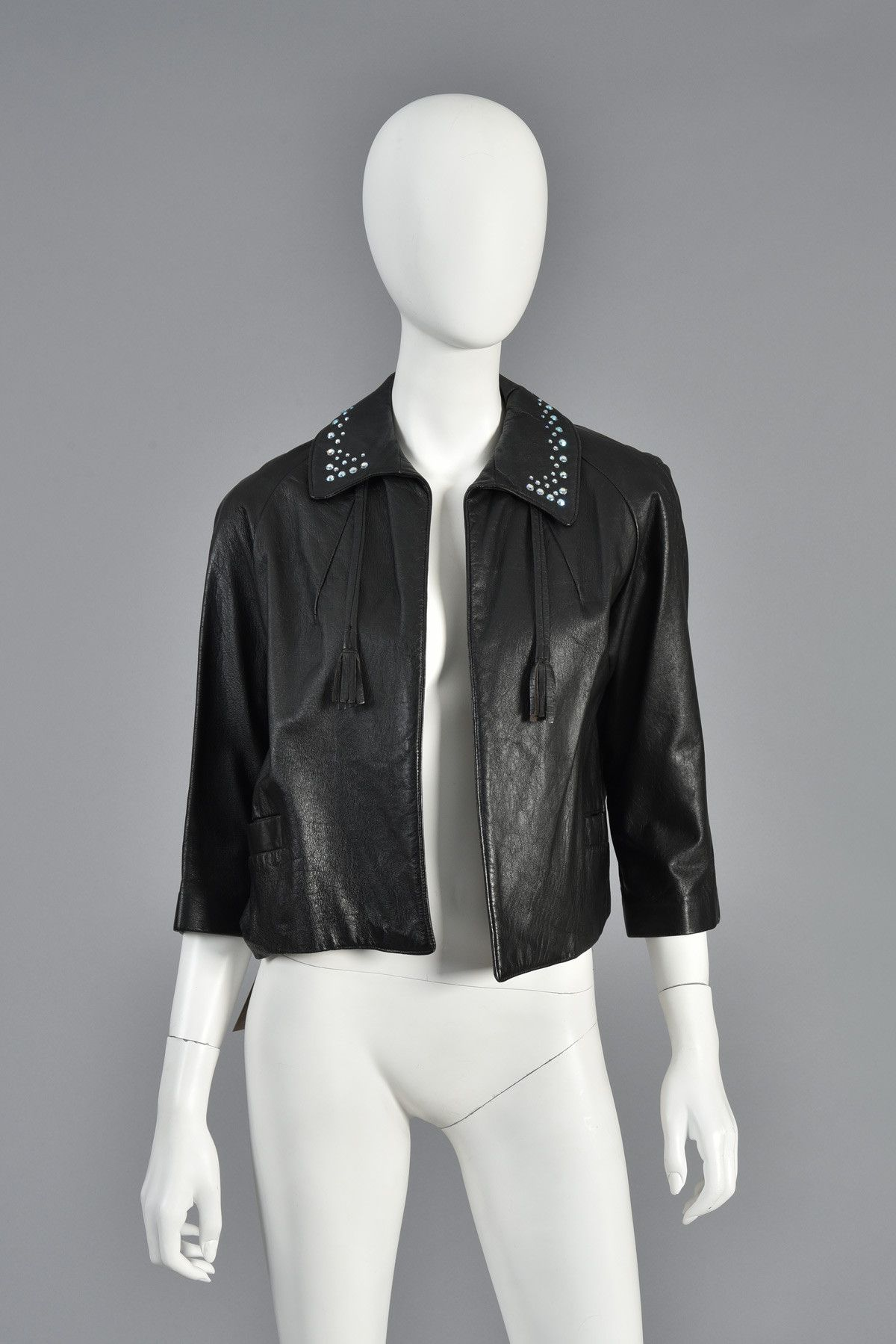 60s Cropped Leather Jacket w