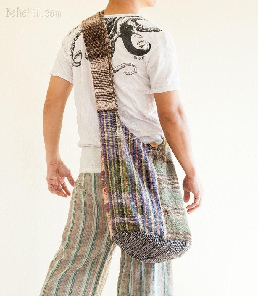 Unique Handwoven Purist Hippie Hobo Unisex Patchwork Monk Sling Shoulder Bag (MB-27)