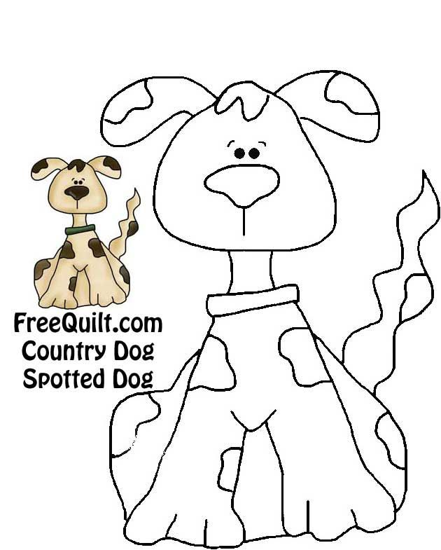 Country Dog Quilt Spotted Dog | Dog Templates and Patterns ...