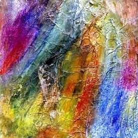 Kunst Ambiente filigranblau abstrakte malerei acryl experimentell spachtelmasse