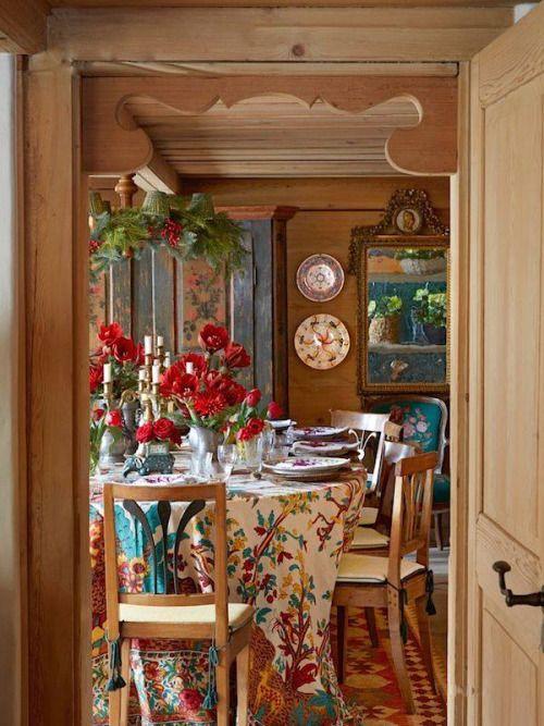 Cozy dining area   Decorar mesa de centro, Decoración de ...