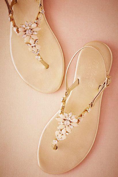 flache Brautschuhe, Hochzeitsschuhe, elegant, Sandalen mit