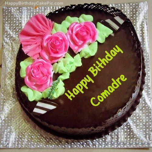 Chocolate Happy Birthday Cake For Comadre 500 500 Happy Birthday Cake Pictures Sister Birthday Cake Happy Birthday Cakes