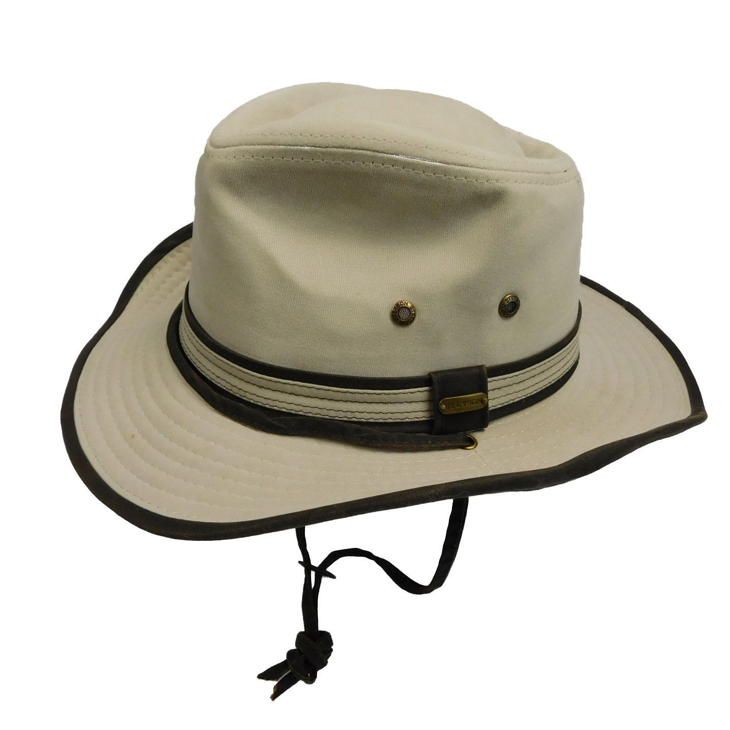 Stetson Garment Washed Twill Outback Hat 2846a0c739d