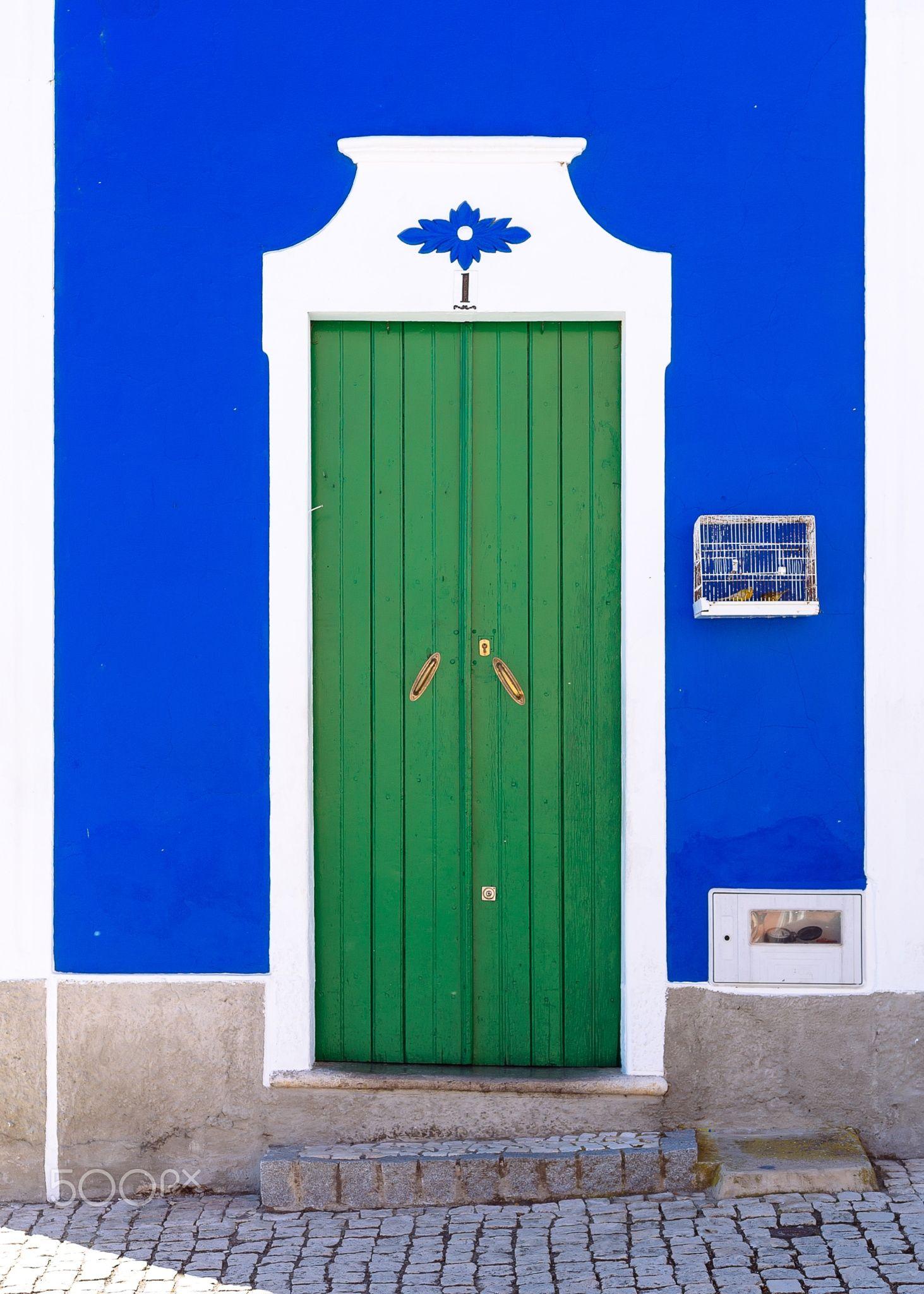 Green door Mertola Portugal. Door color Beautiful doors Doors
