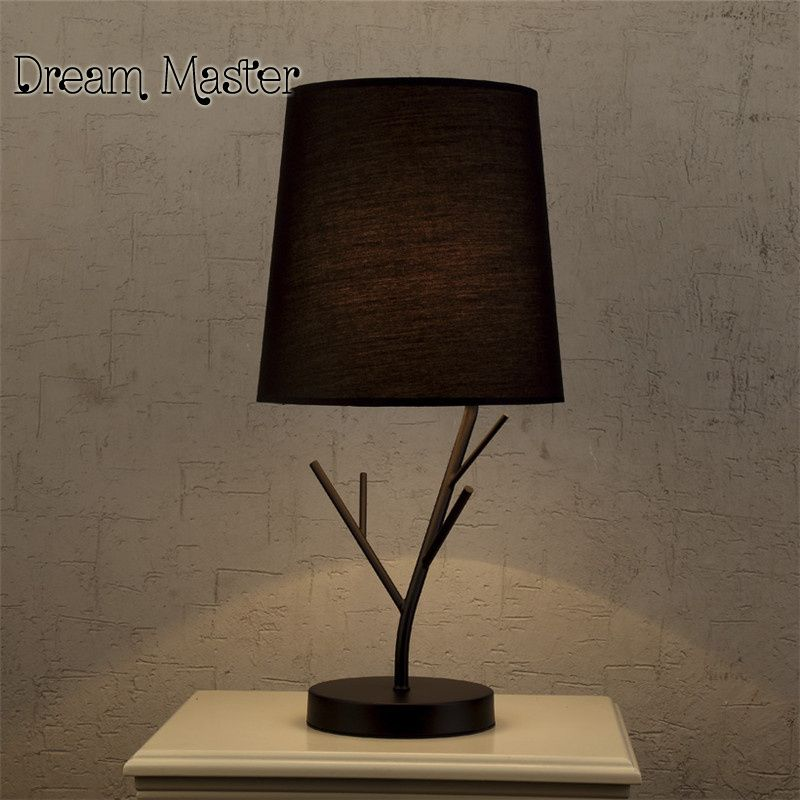 Simple Modern Table Lamp Bedroom Living Room Cloth Art Hotel Dimming Creative Fashio Modern Table Lamps Bedroom Modern Table Lamp Living Room Modern Table Lamp