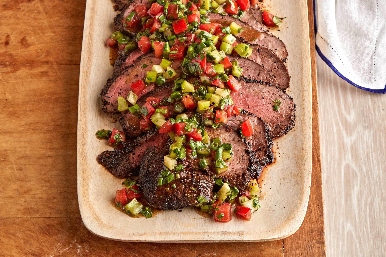 Grilled Tri Tip Roast With Santa Maria Salsa Recipe Tri Tip Steak Recipes Bbq Recipes Summer Bbq Recipes