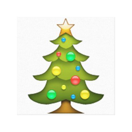 Christmas Tree Emoji Canvas Print Zazzle Com Tree Emoji Christmas Envelopes Christmas Wall Art