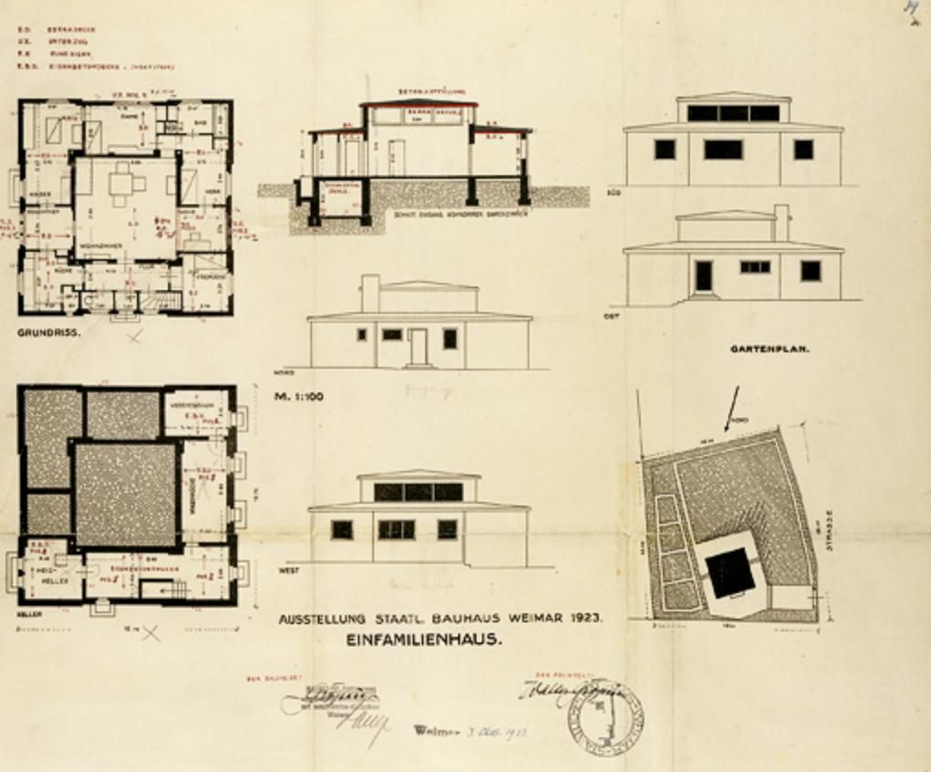 Haus Am Horn Weimar application for a building permit for the haus am horn
