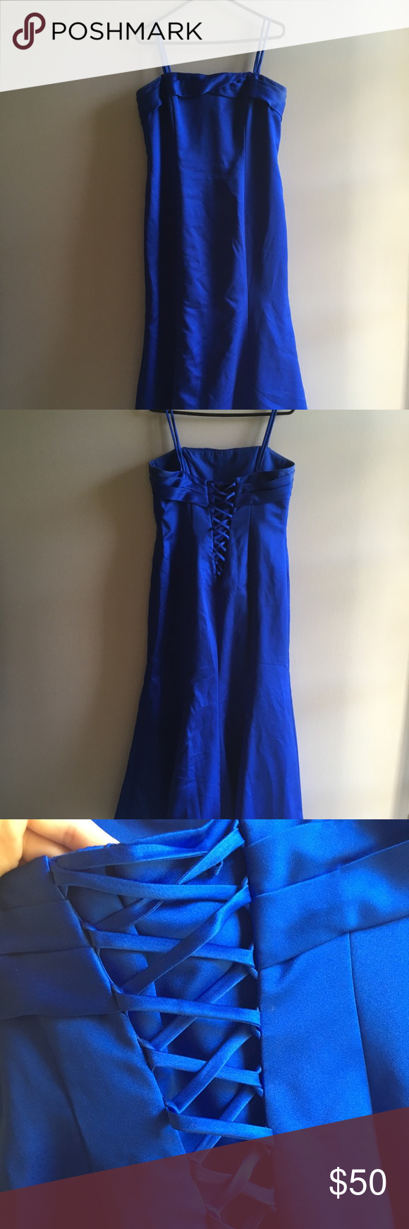 Royal blue bridesmaid dress my posh closet pinterest royal