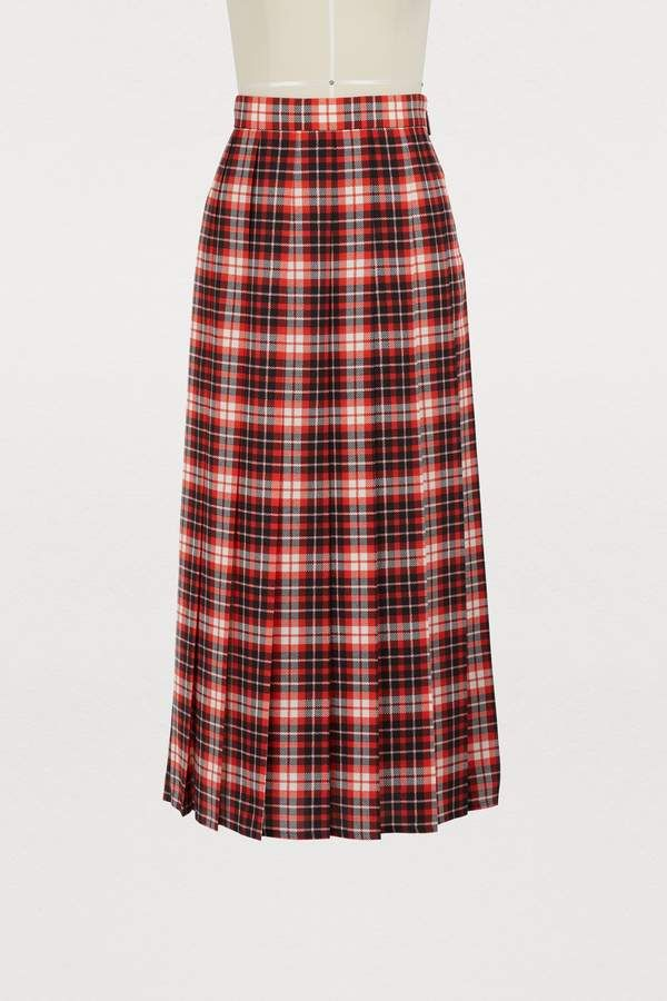 861cc4bcfb MSGM Pleated plaid skirt in 2019