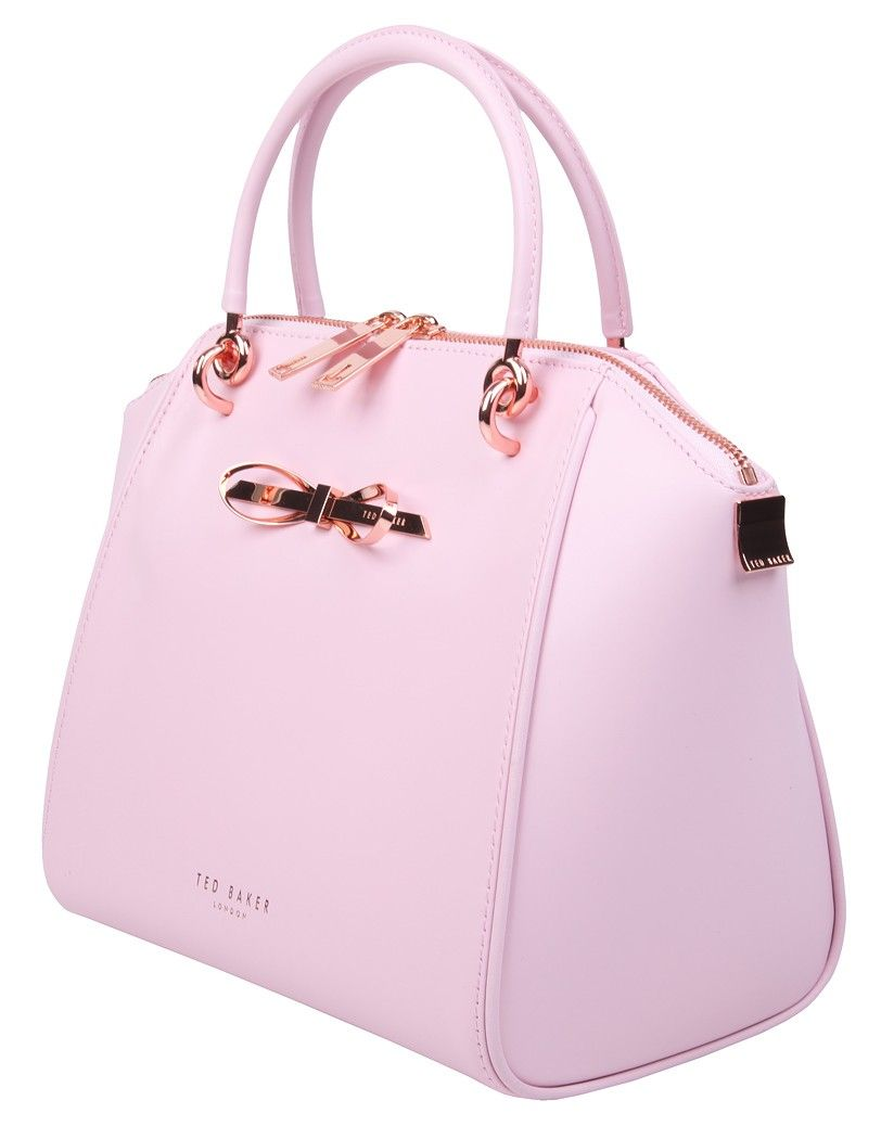 Ted Baker Las 39 Lailey Slim Bow Leather Tote Bag Baby Pink