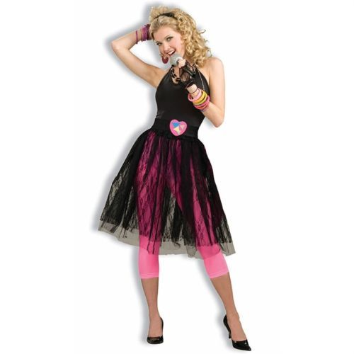 80s-Black-Lace-Skirt Class Reunion Pinterest Black lace skirt - black skirt halloween costume ideas
