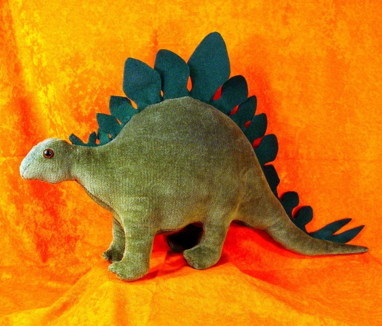 Sewing pattern to make a stegosaurus dinosaur stuffed animal soft sewing pattern to make a stegosaurus dinosaur stuffed animal soft toy jeuxipadfo Choice Image
