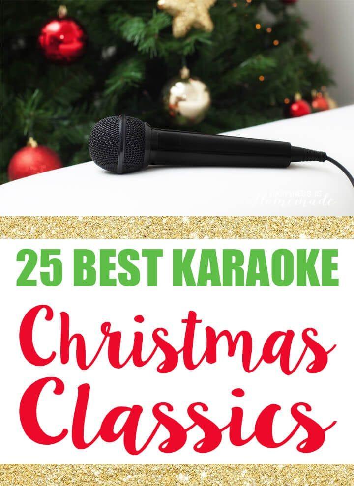 25 Best Karaoke Christmas Classics for the Holidays #bestkaraokemachine