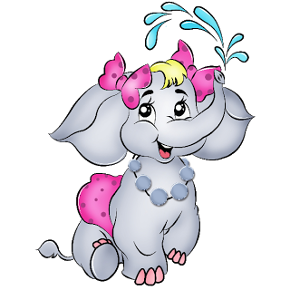 Valentine Elephant's Cartoon Clip Art Images Are On A Transparent ...