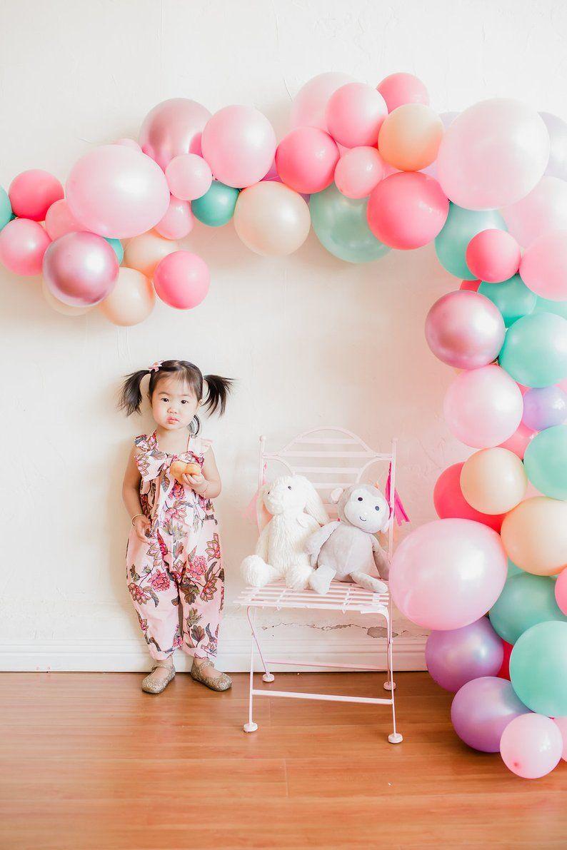 Balloon garland kit pastel donut ice cream party balloon