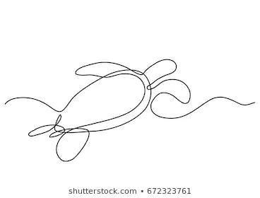 Photo of Sea Turtle Line Art Stock Illustrations, Images & Vectors