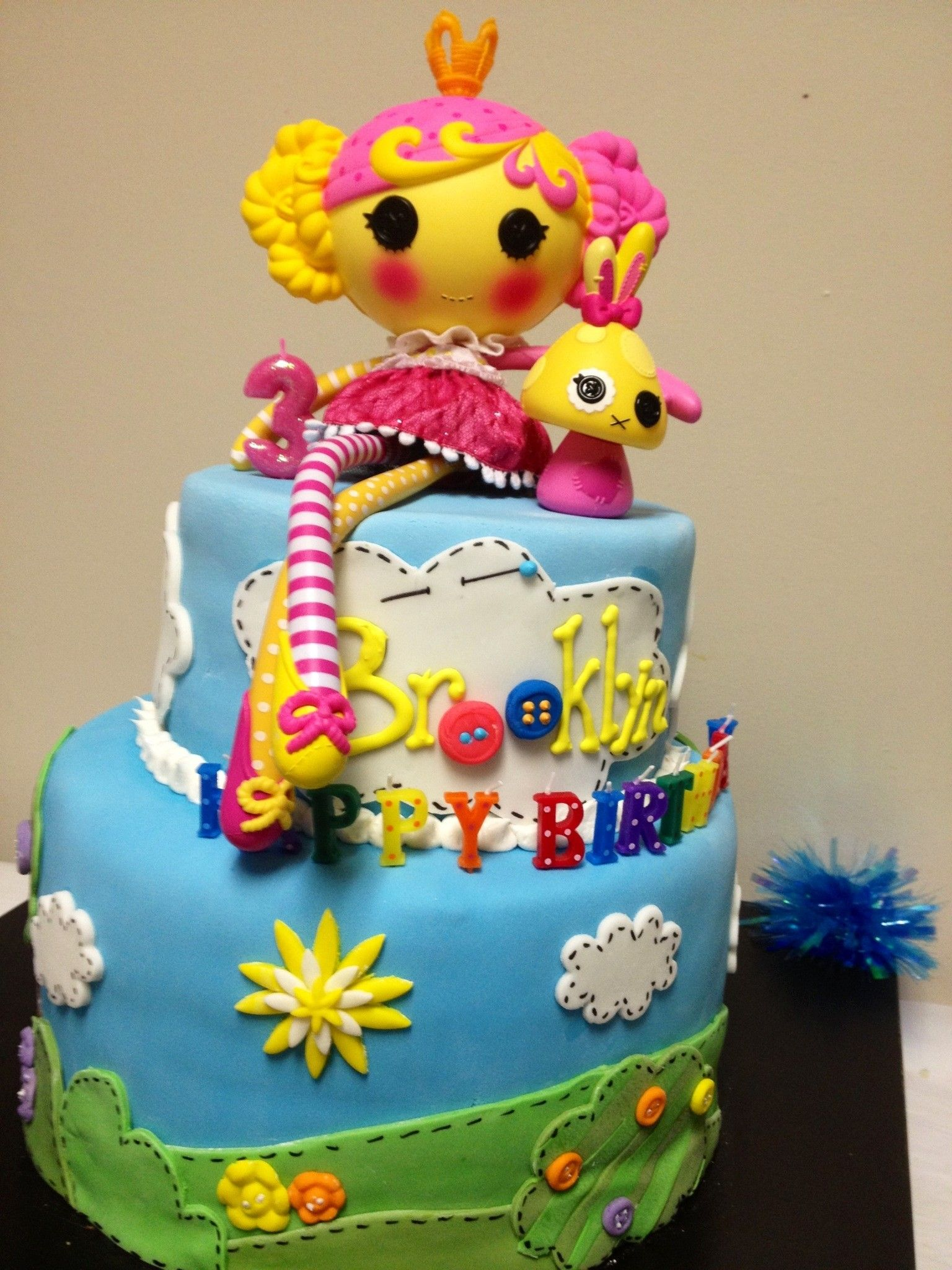 Fabulous Brooklyns Cool Lalaloopsy Cake With Images Cool Birthday Personalised Birthday Cards Rectzonderlifede