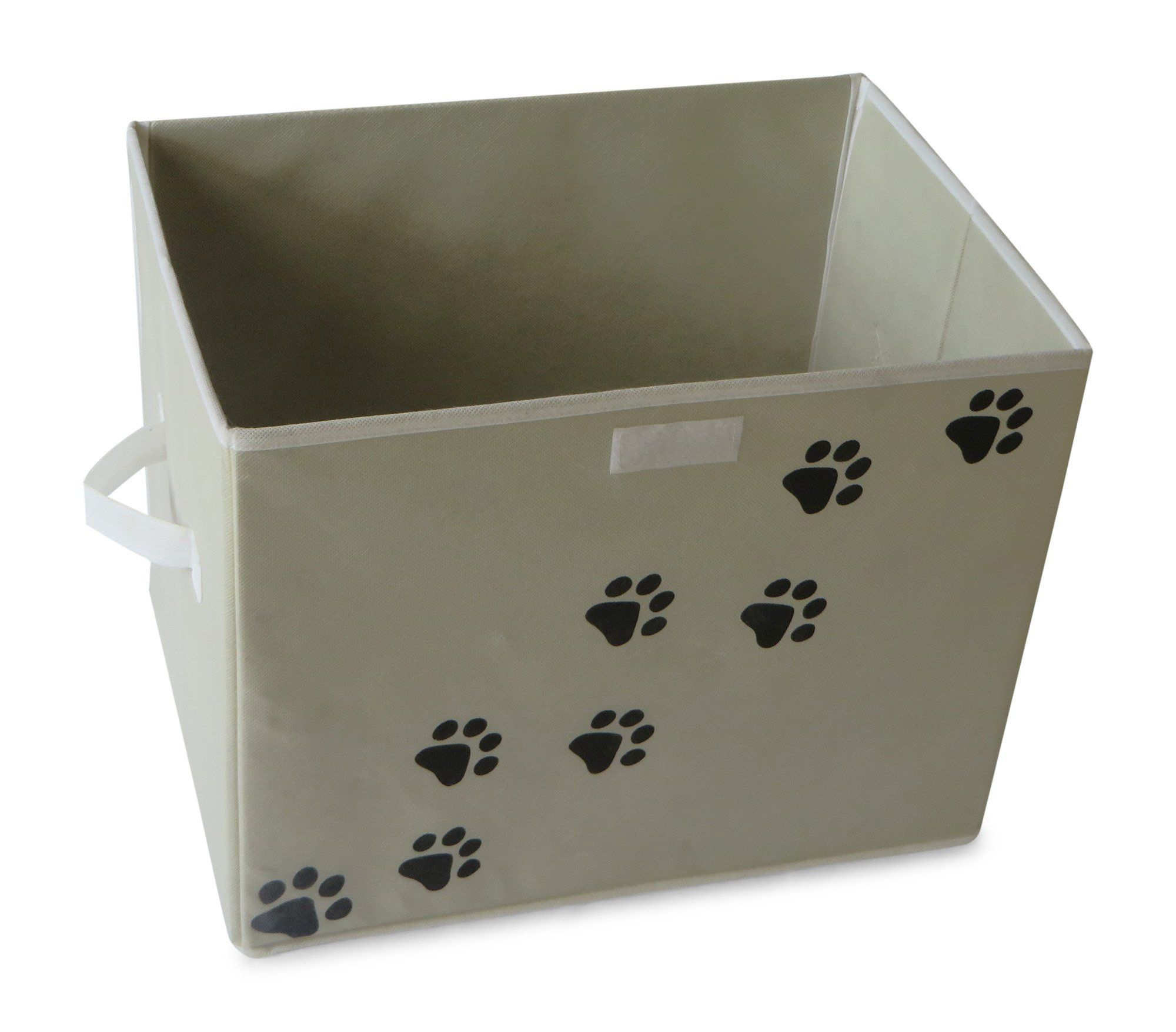 Feline Ruff Large Dog Toys Storage Box 16 X 12 Inch Pet Toy Storage Basket With Lid Perfect Collapsible Toy Storage Baskets Dog Toy Storage Toy Storage Boxes