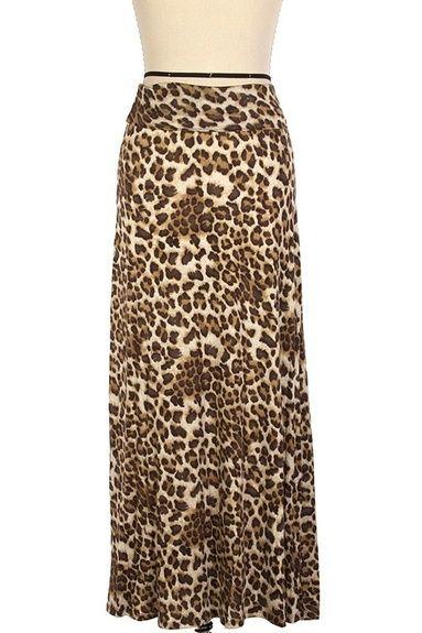 6dadae614 $20.00 Maxi Skirt Animal Print - Kelly Brett Boutique | All Dressed ...