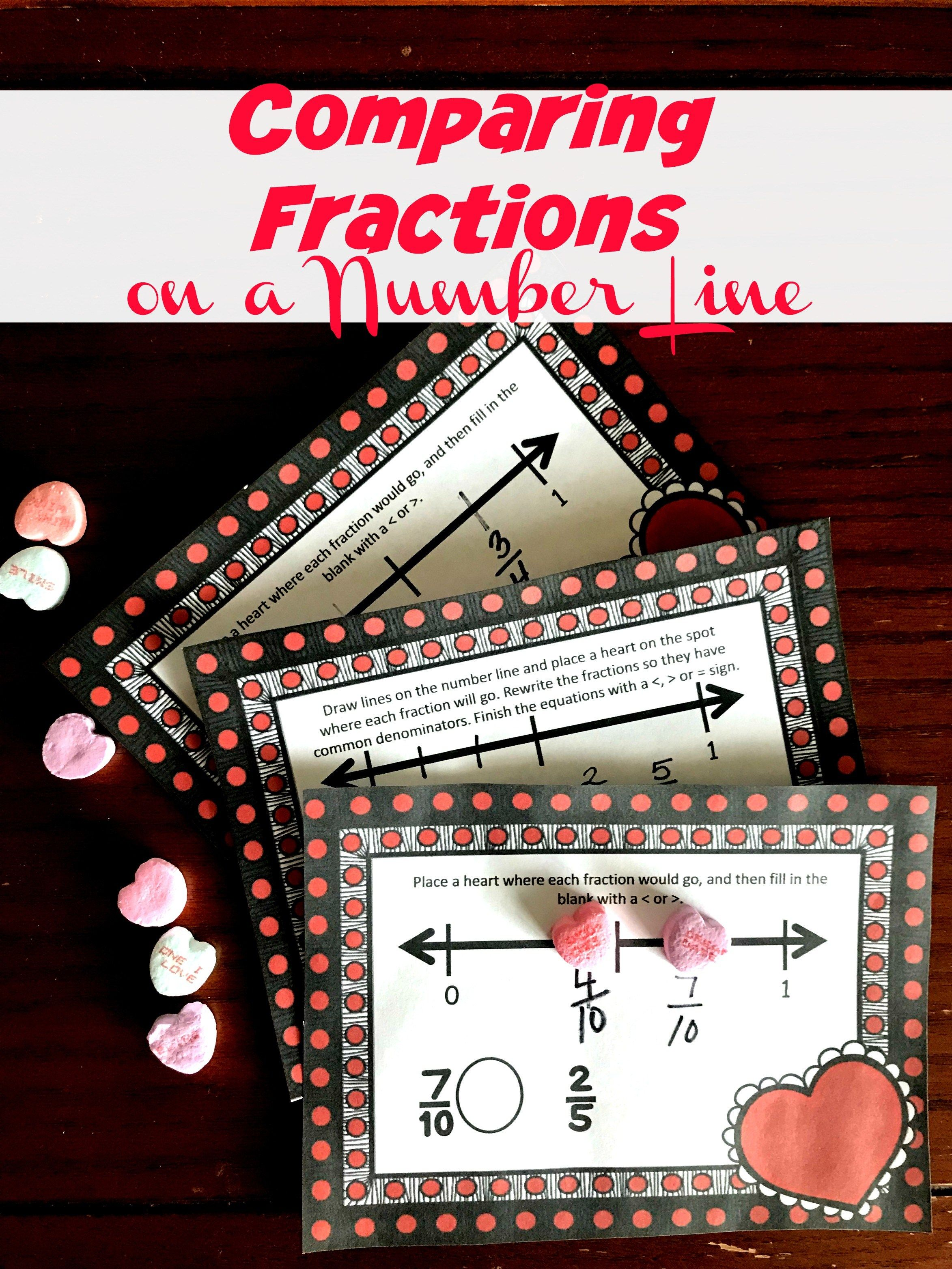 Free Delicious Comparing Fractions On A Number Line