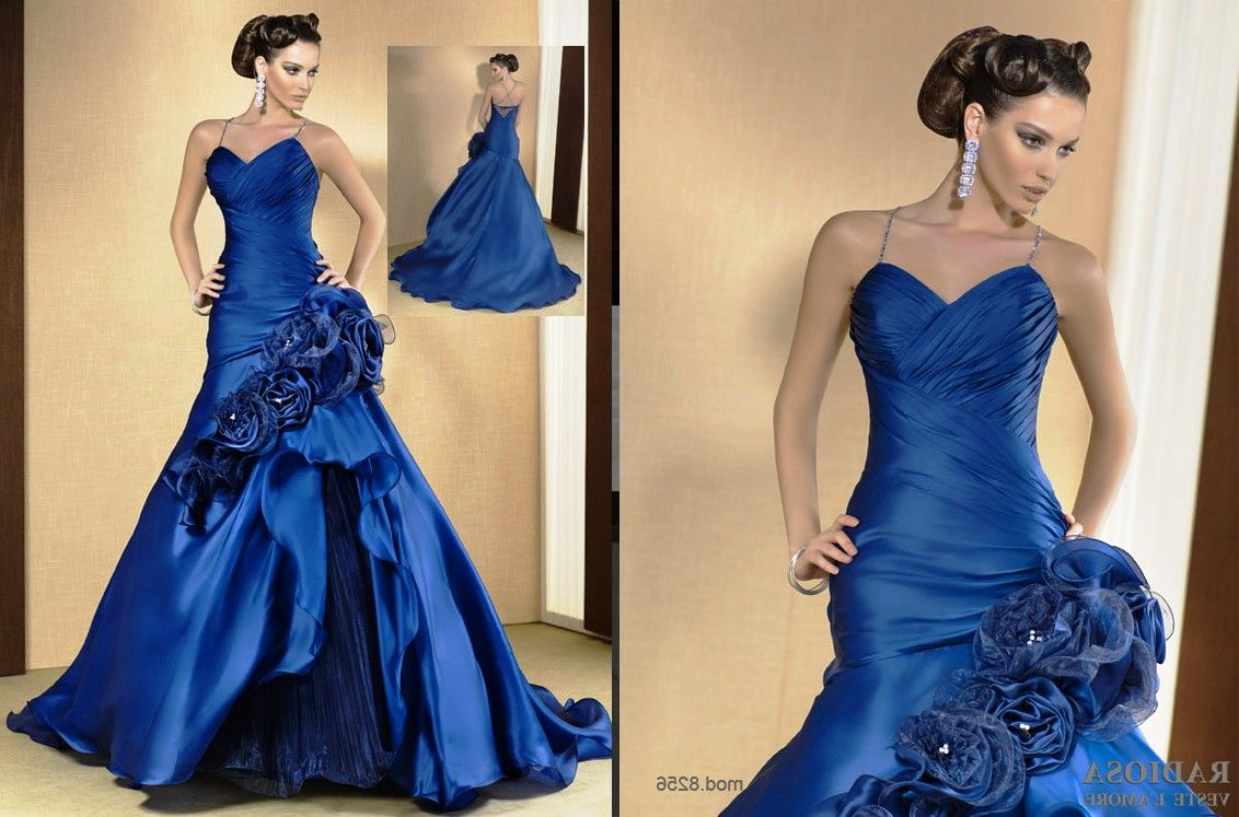 Royal Blue And Black Wedding Dresses Blue Wedding Gowns Black Wedding Dresses Dresses