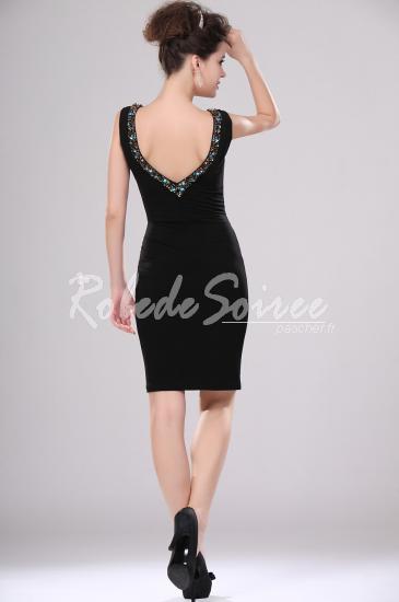 Sexy Black V-cut robe de cocktail perlée [ROBECOCKTAIL0114] - €140.81 : Robe de Soirée Pas Cher,Robe de Cocktail Pas Cher,Robe de Mariage,Robe de Soirée Cocktail.