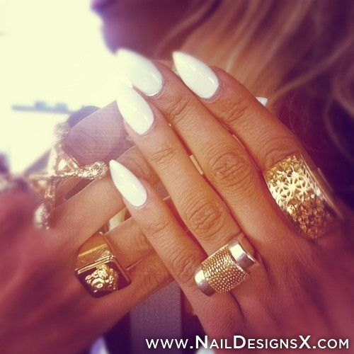 White Stiletto Nail Art Nail Designs Nail Art Nails Pinterest