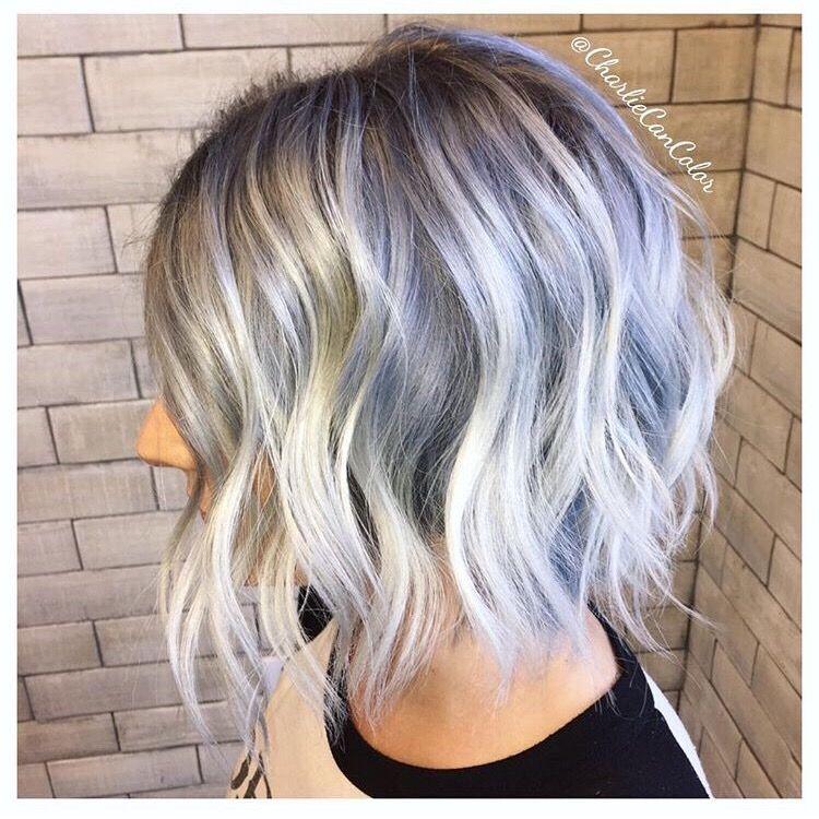 Icy blonde, silver hair, blue hair   Icy blonde hair ...