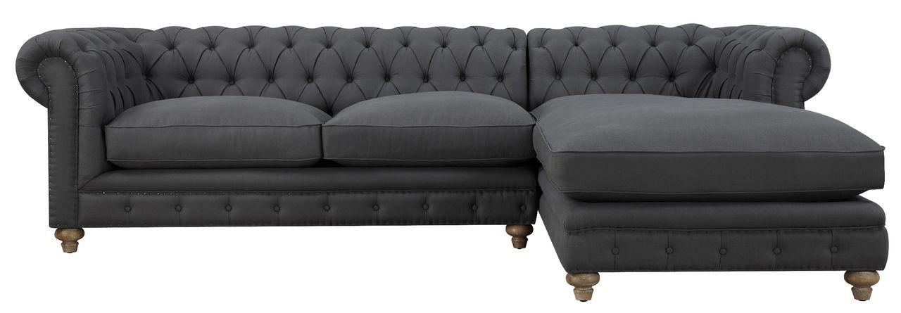 TOV Furniture TOV-S34-Sec-R Oxford Grey Linen RAF Sectional