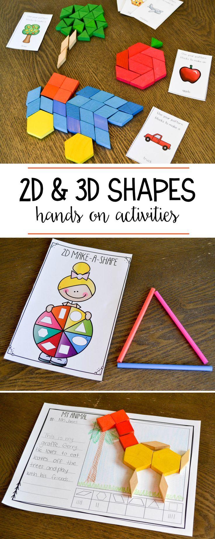 3d Shapes Kindergarten Games & Worksheets | Teachers Pay ...