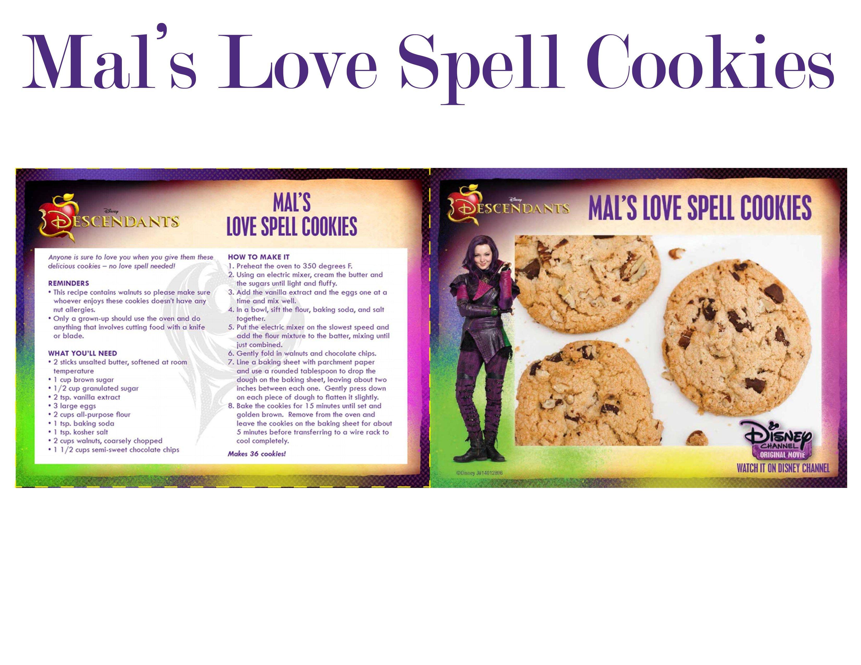 Mal S Love Spell Cookies Recipe From Descendants